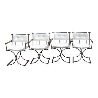 1960s Cleo Baldon Aspen Campaign Chairs – Set of 4 For Sale