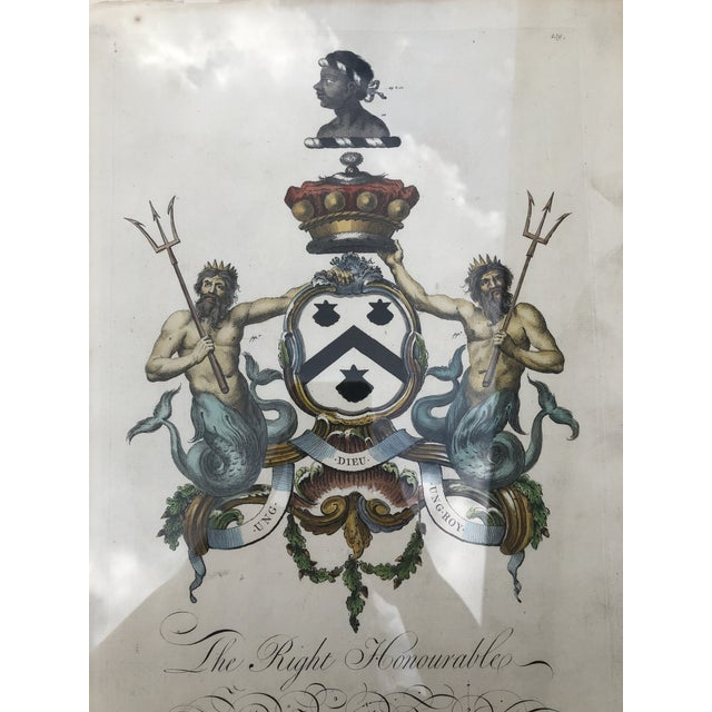 Framed Antique Engravings of Francis Seymour-Conway and George Lytteltons' Coat of Arms - a Pair For Sale In Atlanta - Image 6 of 13