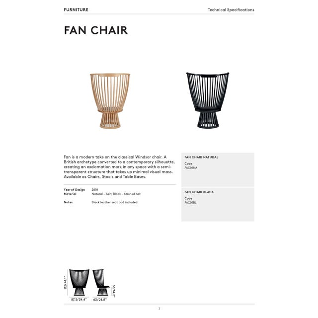 Tom Dixon Fan Chair Natural For Sale - Image 10 of 12