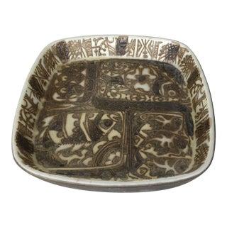 Vintage Mid-Century Modern Nils Thorsson Danish Faience Glazed Baca Bowl by Royal Copenhagen For Sale