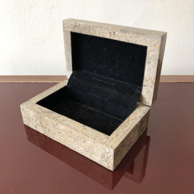 Late 20th Century 1980s Tessellated Marble Hinged Vintage Box For Sale - Image 5 of 9