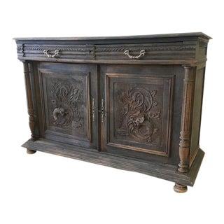 French Antique Henry II 2-Door Credenza