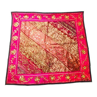 Vintage Intricate Hand Made Indian Textile Art For Sale