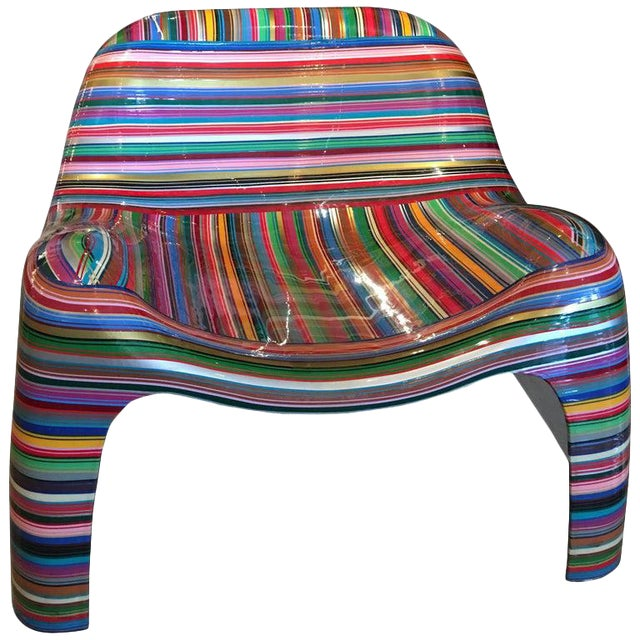 """Mauro Oliveira """"Hard Candy"""" Painted Chair For Sale"""
