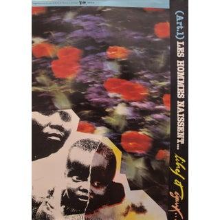 1989 Original Poster for Artis 89's Images Internationales Pour Les Droits De l'Homme Et Du Citoyen - Article 1, Les Hommes Naissent Libres Et Égaux For Sale