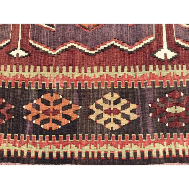 Vintage Turkish Kilim Rug For Sale - Image 4 of 10