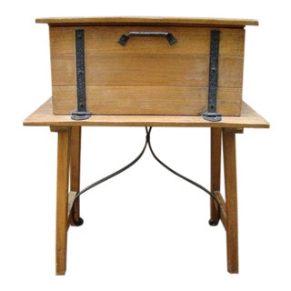 1930s Spanish Colonial Mahogany Desk on Stand For Sale