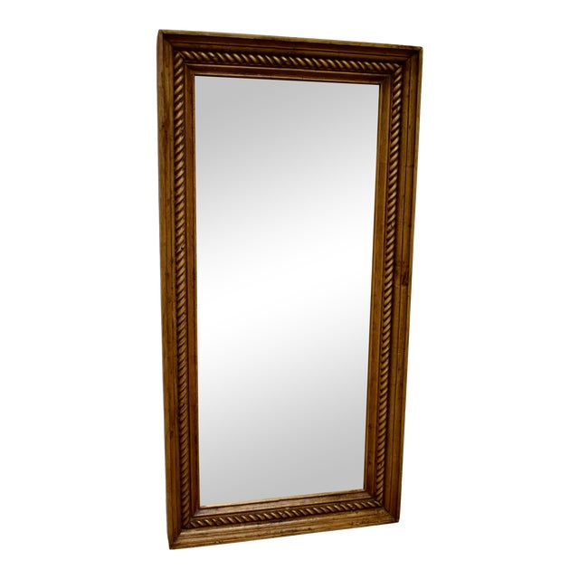 Pine Framed Rope Twist Mirror For Sale