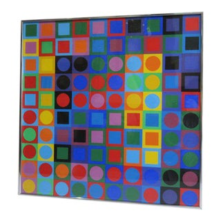 1969 Victor Vasarely Silkscreen Planetary Folklore Participations For Sale