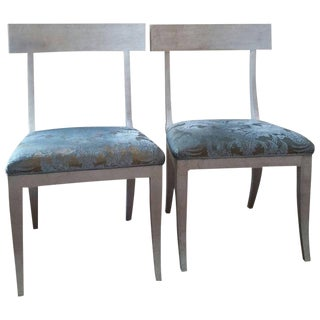 Sublime Niermann Weeks Elgin Side Chairs - A Pair For Sale