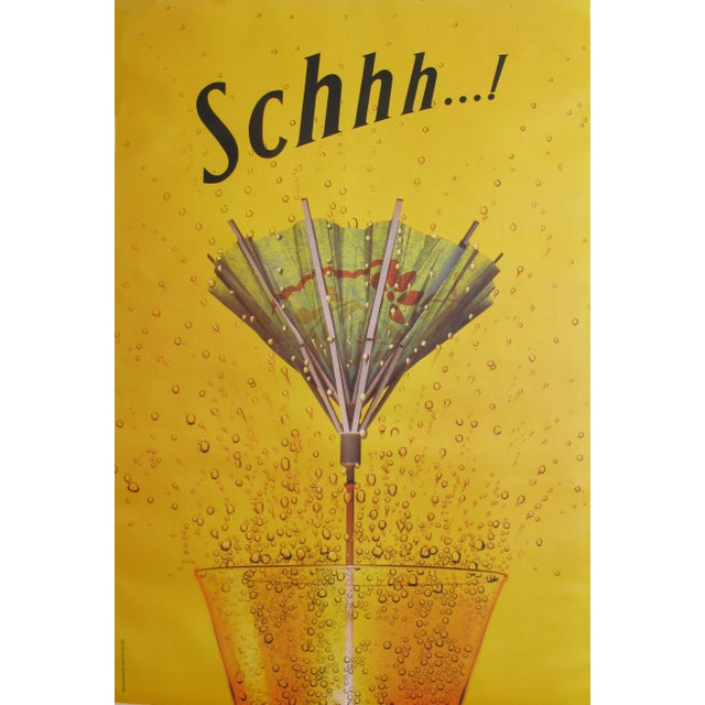 1990s 1995 Schweppes Advertising Poster, Schhh...! Umbrella For Sale - Image 5 of 5
