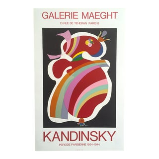 """Wassily Kandinsky Rare Vintage 1969 Lithograph Print Exhibition Poster """"Periode Parisienne Galerie Maeght"""" For Sale"""