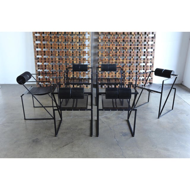 """1980s 1982 """"Seconda 602"""" Armchairs by Architect Mario Botta for Alias - Set of 6 For Sale - Image 5 of 13"""