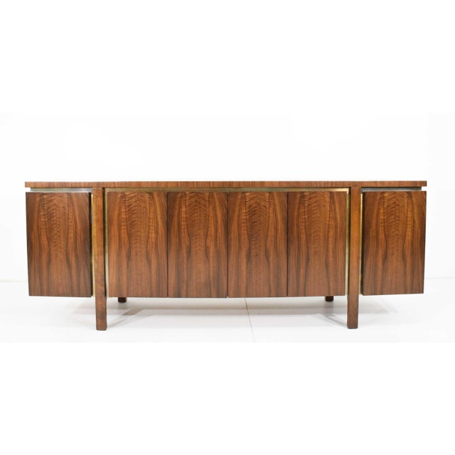 1960s Widdicomb Credenza or Sideboard in Walnut With Parquet Patterned Top For Sale - Image 13 of 13