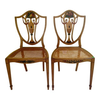 Grand Rapids-Style Shield Back Side Chairs - A Pair For Sale
