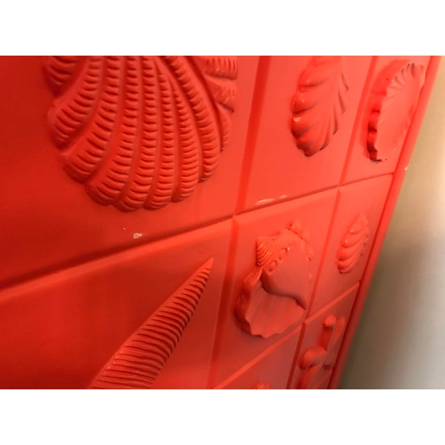 Custom Made Shell Motif Television Cabinet For Sale In West Palm - Image 6 of 11