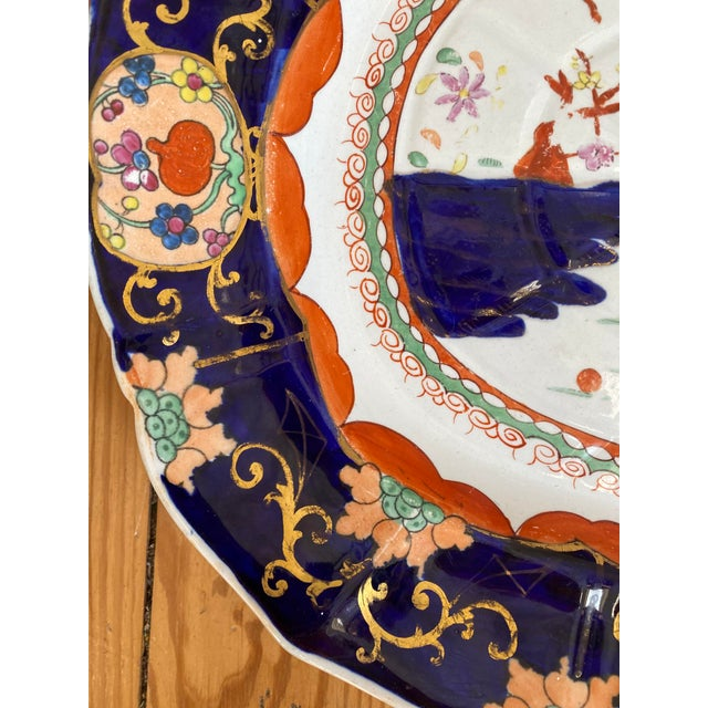 Chinoiserie Mid 19th Century Large Mason's Patent Ironstone Chinoiserie Well and Tree Platter For Sale - Image 3 of 11
