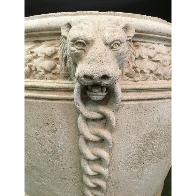 Vintage Concrete Lion Planters - a Pair For Sale - Image 12 of 13