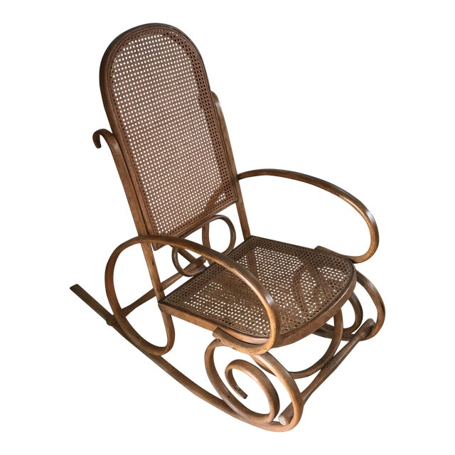 Spanish Bentwood Rocking Chair Rocker For Sale