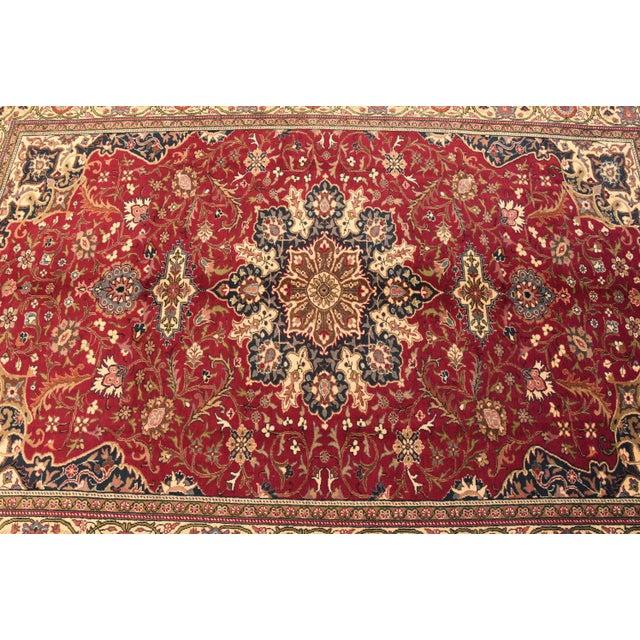 Vintage Turkish Handmade Wool Rug - 6′7″ × 9′10″ For Sale In Sacramento - Image 6 of 8
