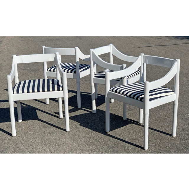 1960s Vico Magistretti Carimate Chairs, Set of 4 For Sale - Image 5 of 7