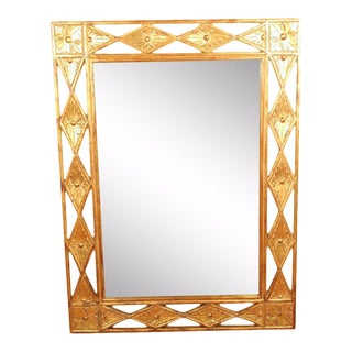 Vintage Harrison & Gil Dauphine Gold Gilt Beveled Wall Mirror For Sale