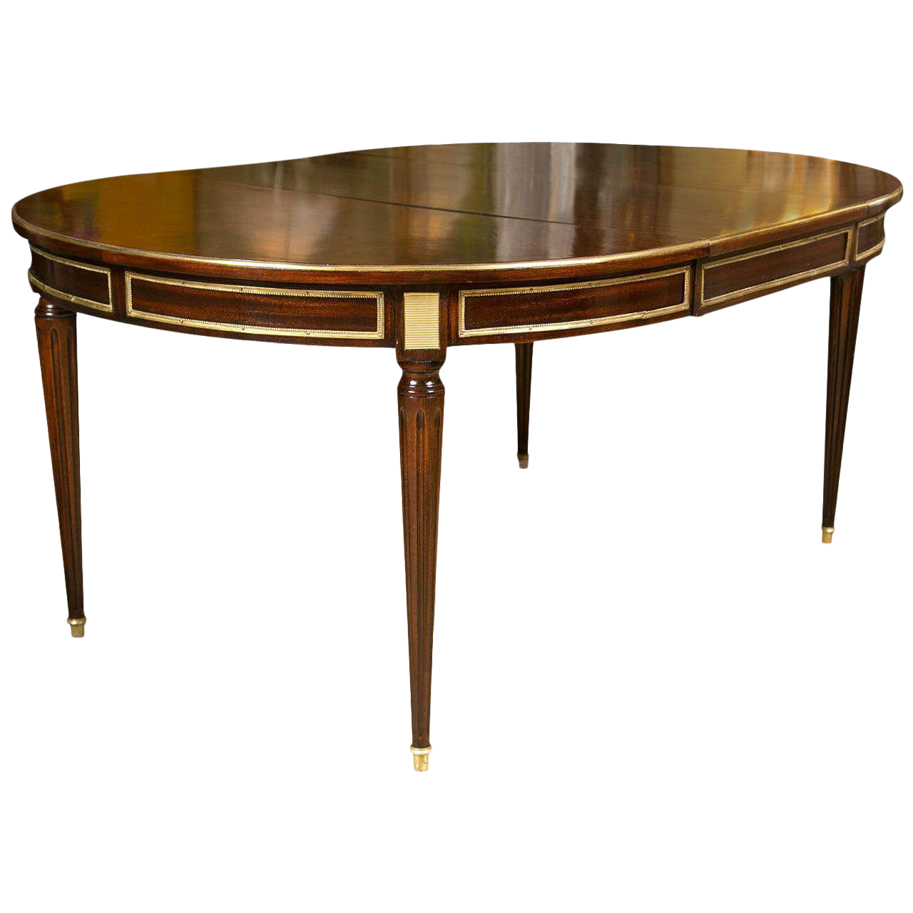 French Louis XVI Style Mahogany Dining Table For Sale