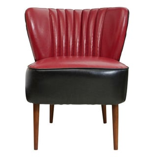 Red and Black Jaxon Sofa Chair For Sale