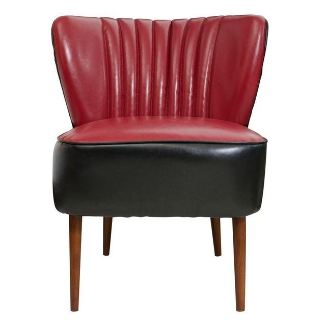 Red and Black Jaxon Sofa Chair - Image 1 of 3
