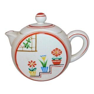 Vintage 1940s Flowered Tea Pot For Sale