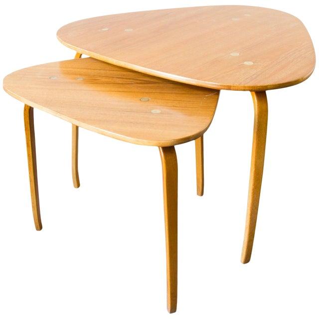 Pair of Yngve Ekström for Dux Nesting Tables For Sale