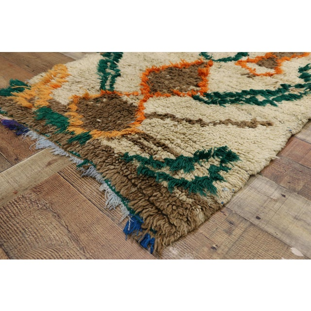 1970s Vintage Berber Moroccan Azilal Rug - 2′5″ × 4′10″ For Sale In Dallas - Image 6 of 10