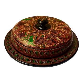 Vintage Burmese Lacquerware Snack Box Dish