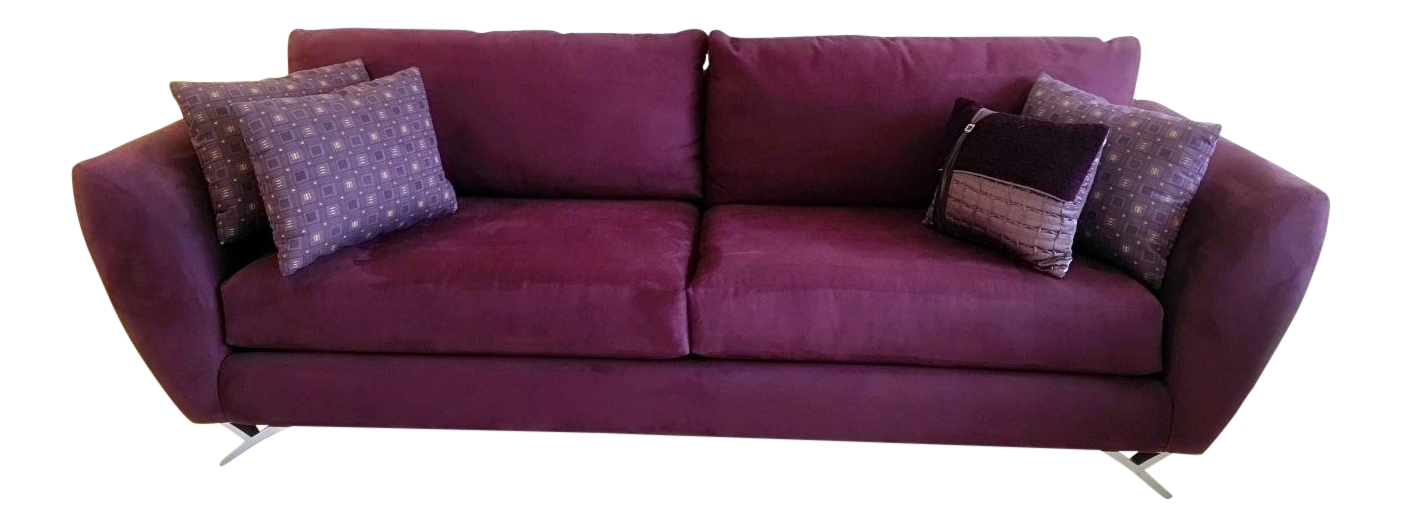 Fabric Lazar Industries Modern Contemporary Sofa For Sale   Image 7 Of 7