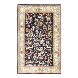 """Sino Persian Silk Tabriz Rug-2'8'x4'2"""" For Sale"""