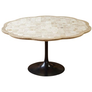 Travertine Pedestal Dining Table