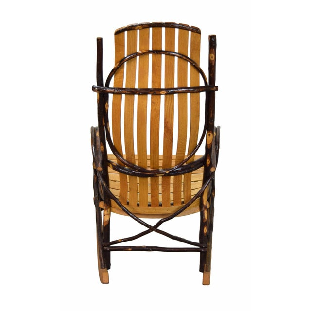 20th Century Rustic a.c. Latshaw Bentwood Hickory Twig Rocker Chair For Sale - Image 4 of 5