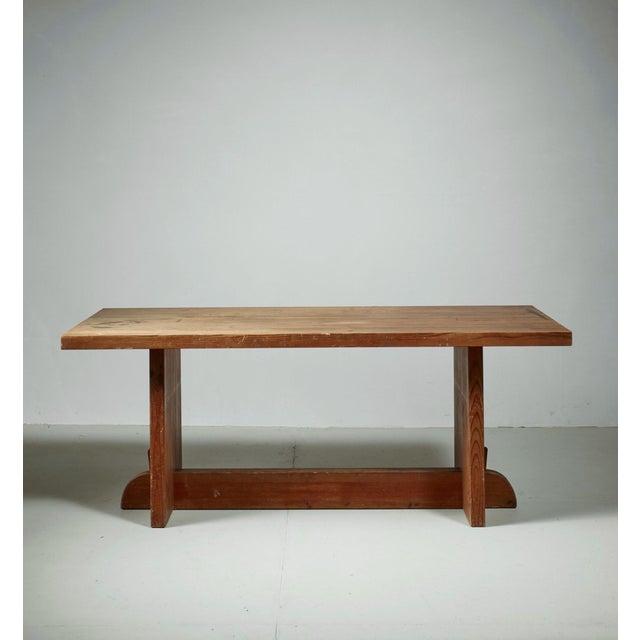 Mid-Century Modern Axel Einar Hjorth Pine 'Lovö' Table for Nordiska Kompaniet, Sweden, 1930s For Sale - Image 3 of 6