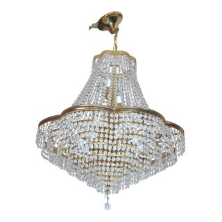 Vintage Swarovski Crystal Chandelier For Sale