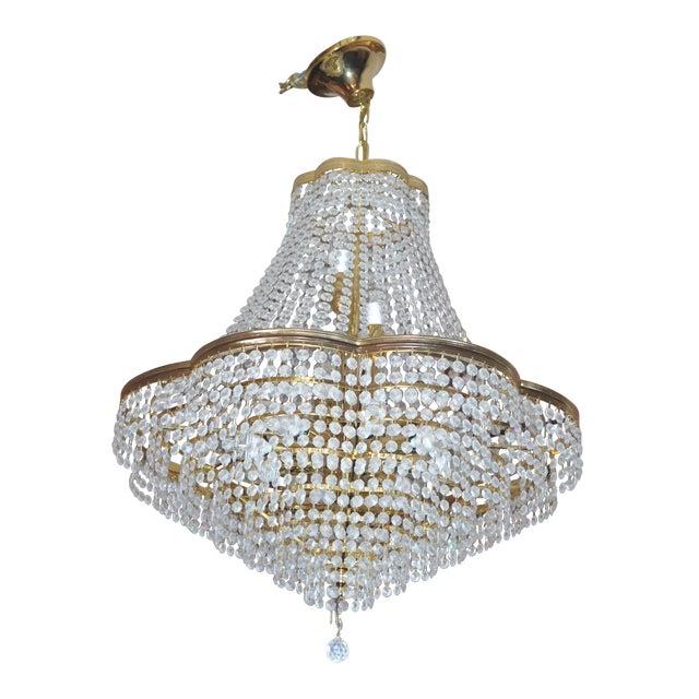 Vintage Swarovski Crystal Chandelier For Sale