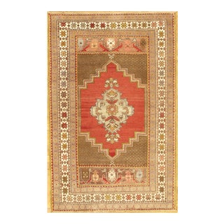Hand-Knotted Oushak Rug- 4' X 6' For Sale