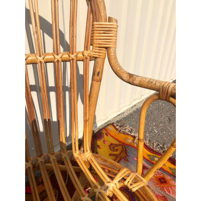 Albini Style Bamboo Rattan Bistro Chairs- a Pair For Sale In Charleston - Image 6 of 13