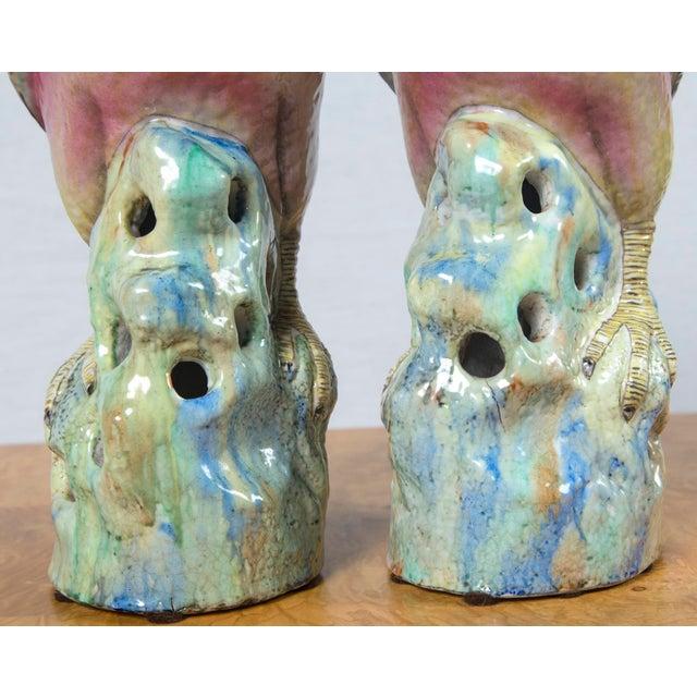 Ceramic Pair of Vintage Heavy Porcelain Bird Form For Sale - Image 7 of 9