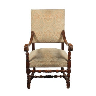 1920s Louis XIII Baroque Armchair For Sale