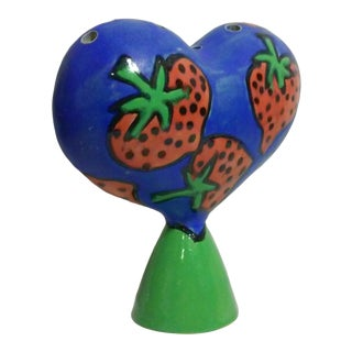 Vintage Studio Ceramic Giant Heart Vase For Sale