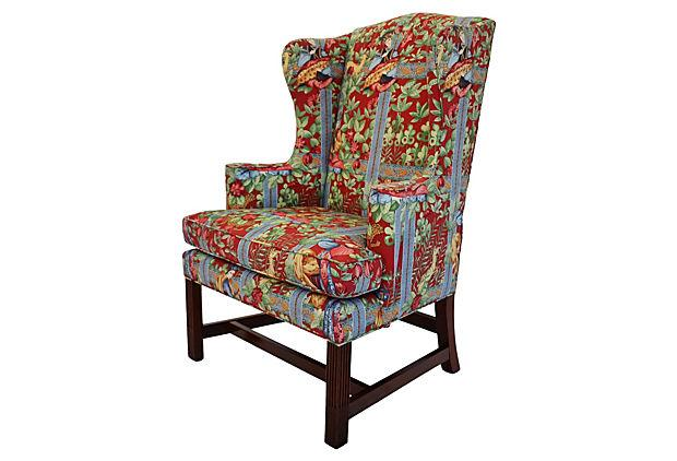 Genial Chippendale Wingback Chair By Baker   Image 2 Of 6