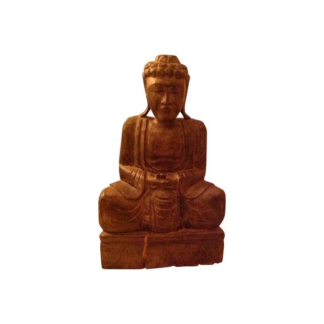 Antique Wooden Buddha - Image 1 of 3