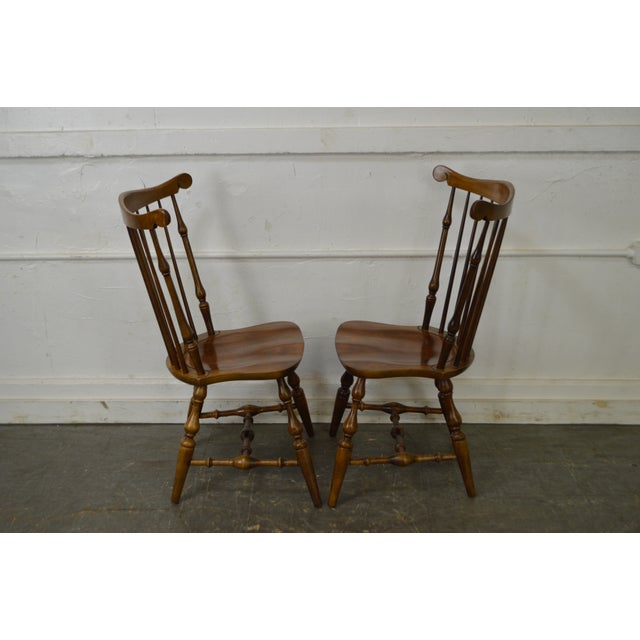 Nichols & Stone Set of 6 Windsor Style Dining Chairs - Image 6 of 10