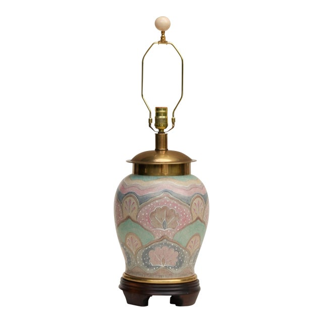 Frederick Cooper Ming Style Ceramic Table Lamp For Sale