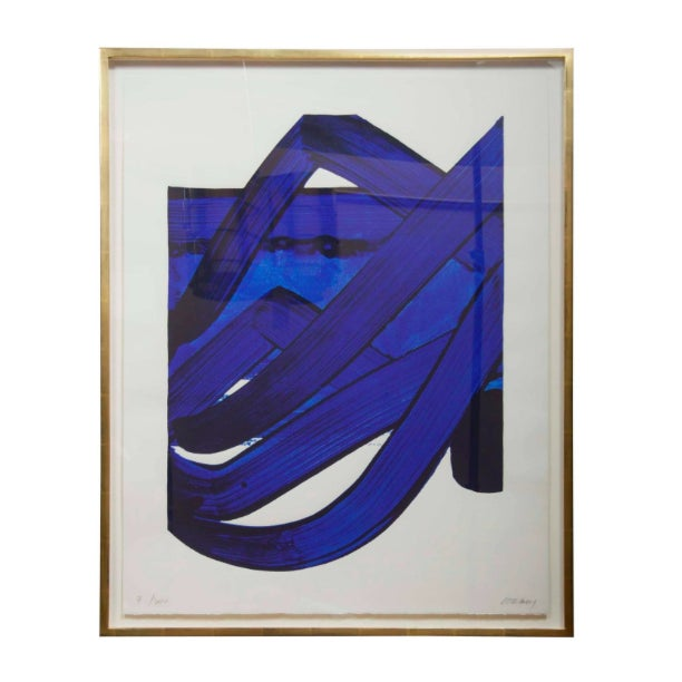 Late 20th Century Lithograph by Pierre Soulages (B. 1919) From the Official Arts Portfolio of XXIV Olympiad For Sale - Image 5 of 10